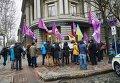 Акция протеста под зданием НБУ в Одесс
