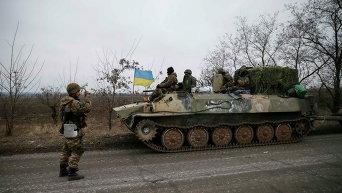 Военные отходят из Дебальцево. Архивное фото