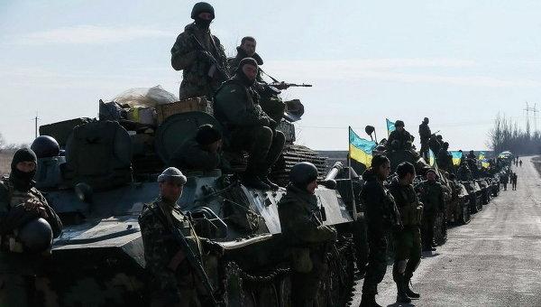 Украинские военные близ Дебальцево. Архивное фото