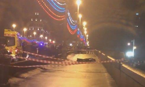 Борис Немцов был застрелен на Большом Москворецком мосту. Видео