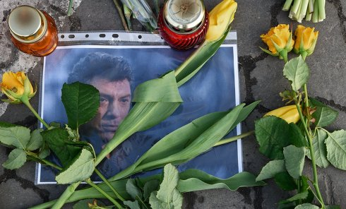 В Киеве почтили память убитого Немцова