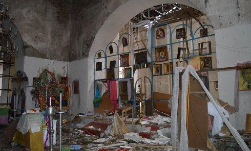 Разрушенный Свято-Троицкий храм в Троицком Попаснянского района