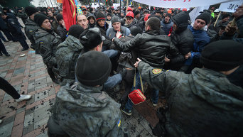 Митинг шахтеров под Кабмином