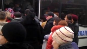 В Николаеве бастуют водители маршрутных такси