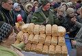 Ситуация в Чернухино - выдача продовольствия