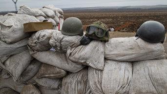 Работа блокпоста ВСУ в Курахово