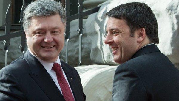Петр Порошенко и Маттео Ренци во время встречи в Киеве