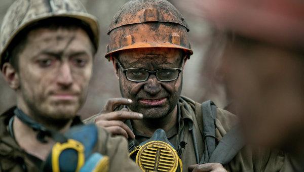 Поднятие тех шахтеров шахты имени Засядько