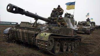 Колонна самоходных гаубиц ВСУ покидает окрестности Донецка