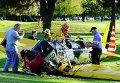 Самолет Харрисона Форда, упавший на поле для гольфа в Лос-Анджелесе
