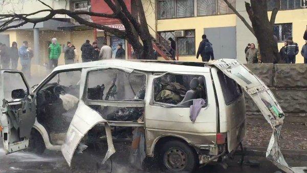 В Харькове взорвали машину с комбатом батальона Слобожанщина