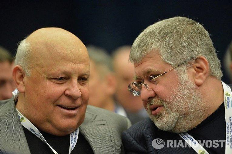 Виталий Кварцяный и Игорь Коломойский на конгрессе ФФУ