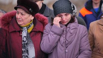 Похороны шахтеров, погибших при взрыве на шахте имени Засядько в Донецке