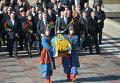 Церемония возложения цветов к памятнику Тараса Шевченко в Киеве