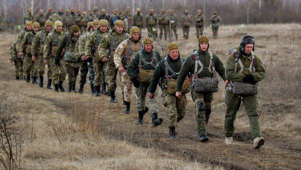 Учения мобилизованных десантников