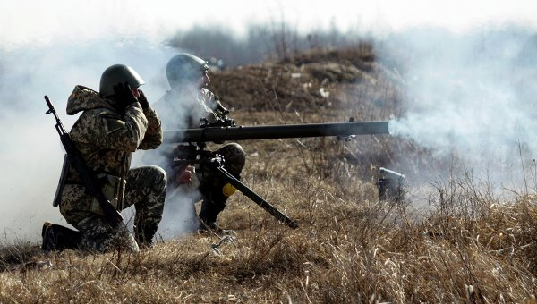 Учения мобилизованных десантников близ Житомира