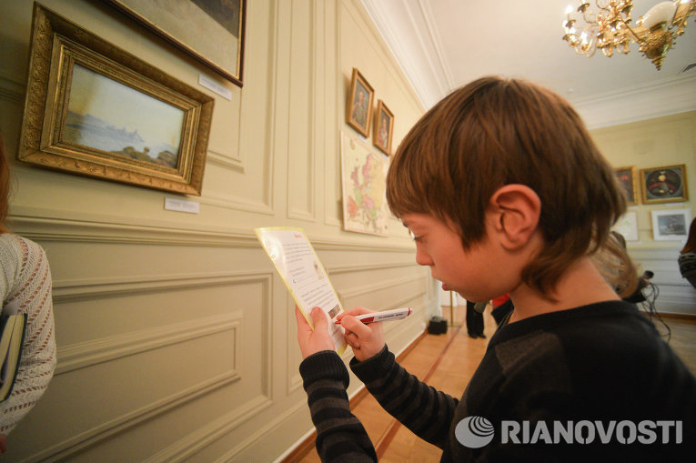 Патриотическая акция для детей-переселенцев в музее Шевченко в Киеве