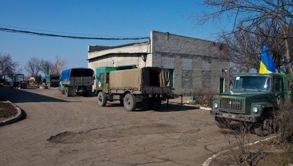 Позиция военных Нацгвардии в Донбассе. Архивное фото