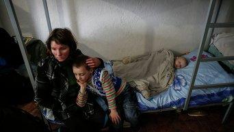 Переселенцы в волонтерском центре. Архивное фото