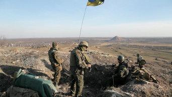 Украинские военные близ Курахово. Архивное фото