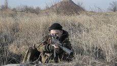Украинские военные близ Курахово