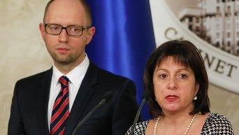 Премьер-министр Арсений Яценюк и министр финансов Наталья Яресько. Архивное фото