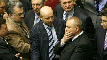 Александр Пеклушенко и Александр Турчинов
