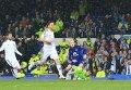 Момент взятия ворот Динамо во время матча 1/8 финала Лиги Европы с Эвертоном. Архивное фото