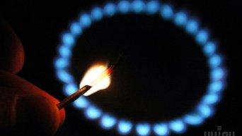 Зажженная газовая конфорка