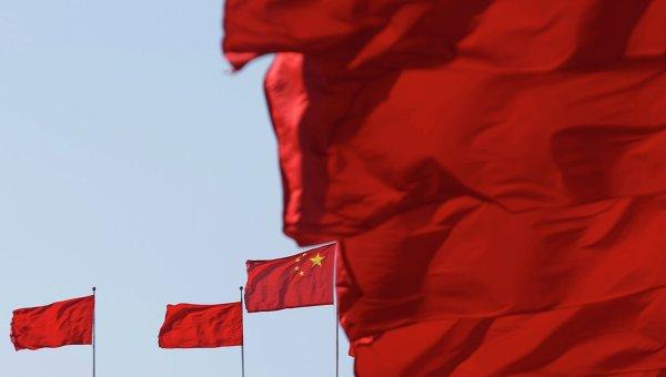 Флаги Китая. Архивное фото