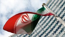 Флаг Ирана у здания ООН