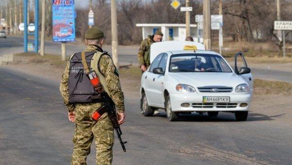Милиция и Нацгвардия несут службу на блок-посту в Донецкой области