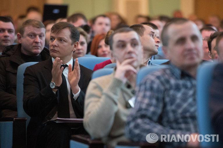Олег Ляшко на съезде Радикальной партии 15 марта 2015 года