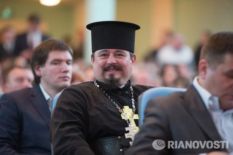 Участник съезда Радикальной партии 15 марта 2015 года