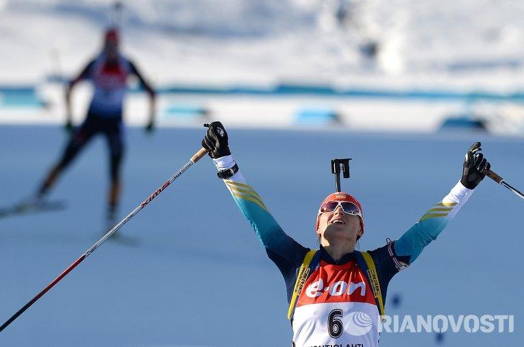 Валентина Семеренко после финиша