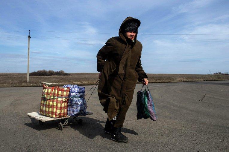 Украинско-российская граница на КПП Успенка