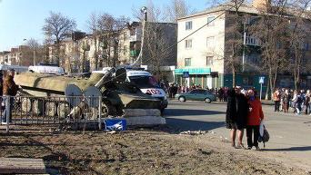 На месте ДТП в Константиновке Донецкой области