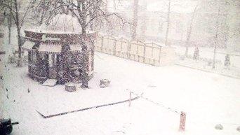 Снегопад из Симферополя