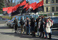 Митинг Правого сектора под зданием МИД Украины
