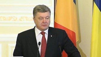 Порошенко о выборах в Донбассе. Видео