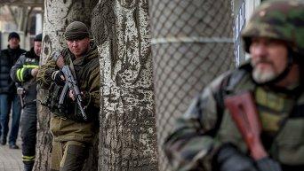 Антитеррористические учения ополченцев в Донецке