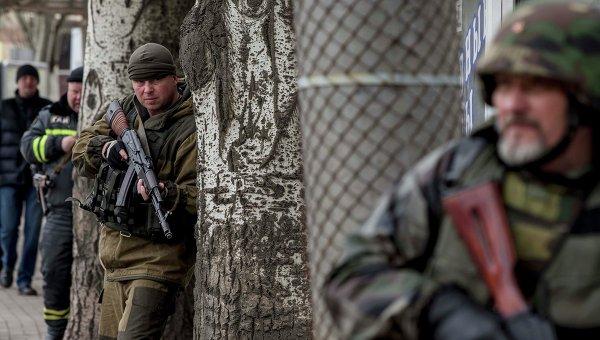 Ополченцы самопровозглашенной ДНР. Архивное фото