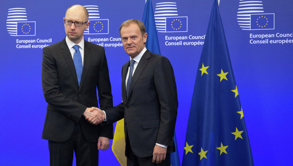 Прошлый премьер Украины Яценюк встретится вБрюсселе сТуском