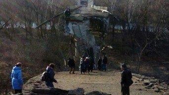 Взорванный мост через реку Северский Донец, Станица Луганская