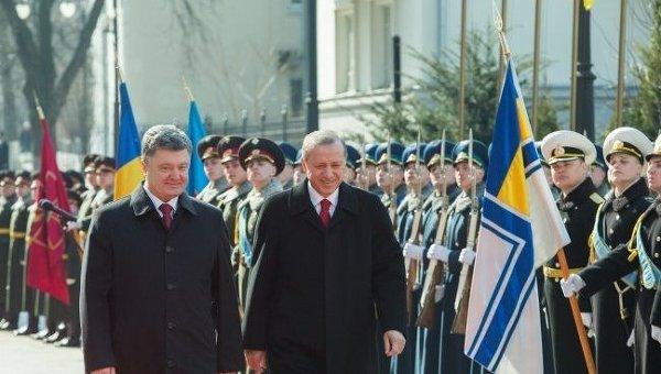 Президент Украины Петр Порошенко и президент Турции Реджеп Тайип Эрдоган в Киеве