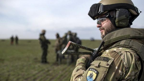 Батальон Азов. Архивное фото