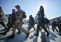 В Киеве проводили в зону АТО бойцов батальона им. генерала Кульчицкого