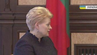 Встреча Грибаускайте с Порошенко в Администрации президента. Видео