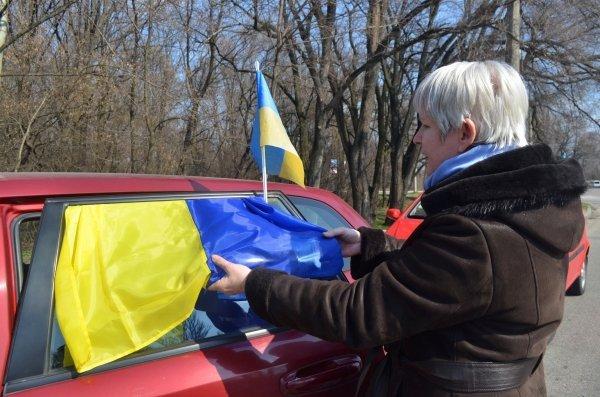 Мариупольские патриоты провели автопробег до Запорожья