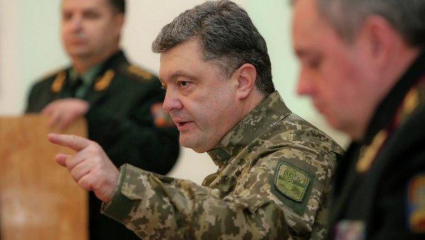 Петр Порошенко на встрече с командирами батальонов ВСУ
